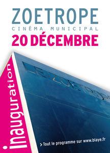 inauguration cinema zoetrope blaye 20 decembre