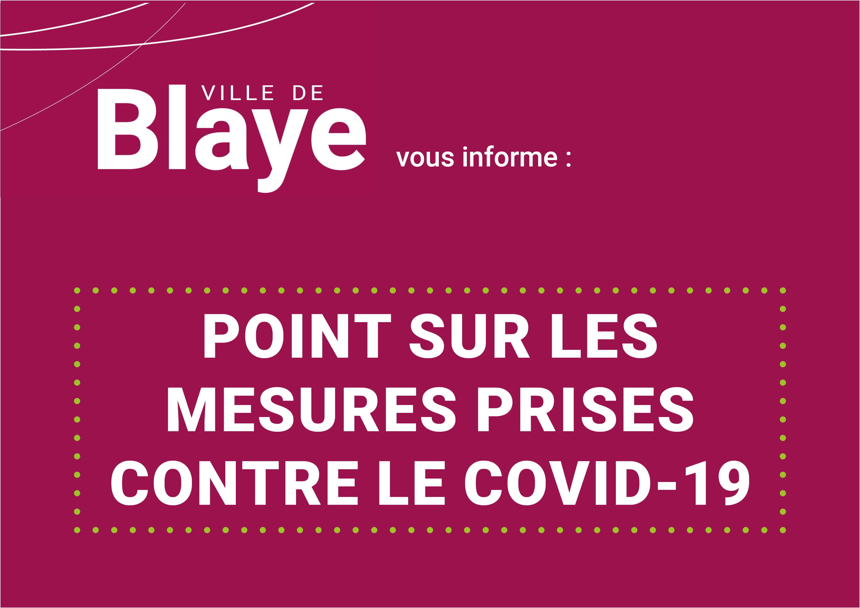 Illustration site points mesures covid